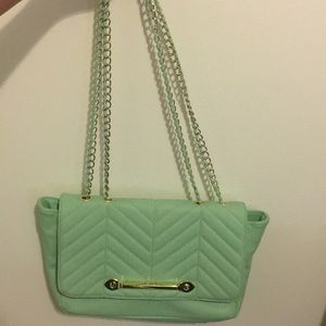 STEVE MADDEN MINT PURSE WITH ADJUSTABLE STRAP
